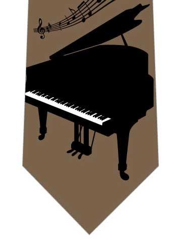 ピアノネクタイ(茶系)の写真