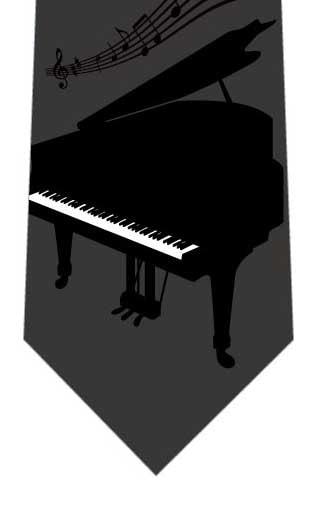 ピアノネクタイ(グレー)の写真