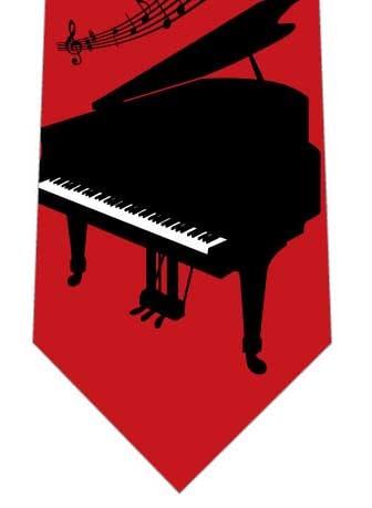 ピアノネクタイ(赤)の写真