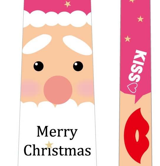 フォトプロップス_クリスマスネクタイ(サンタ×唇)の写真