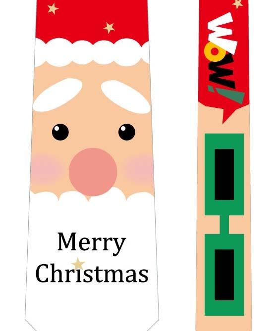 フォトプロップス_クリスマスネクタイ(サンタ×メガネ)の写真