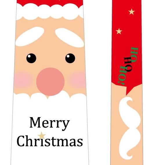 フォトプロップス_クリスマスネクタイ(サンタ×白ひげ)の写真