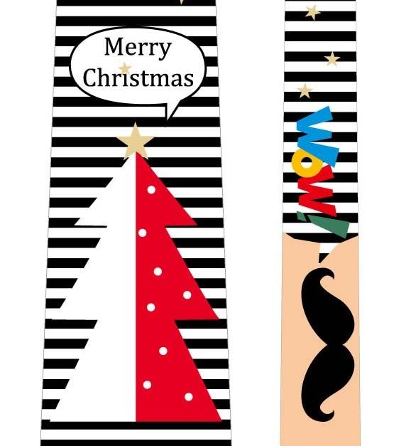 フォトプロップス_クリスマスネクタイ(ツリー×黒ひげ)の写真