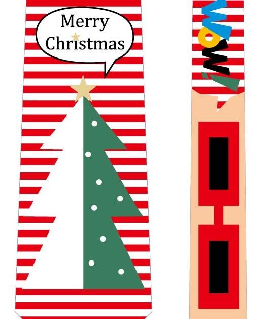 フォトプロップス_クリスマスネクタイ(ツリー×メガネ)の写真