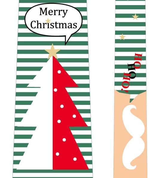 フォトプロップス_クリスマスネクタイ(ツリー×白ひげ)の写真