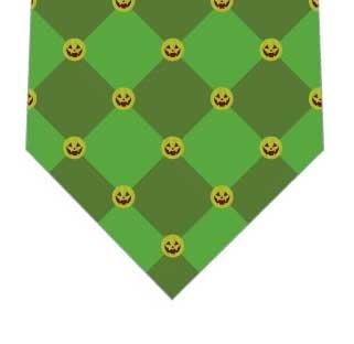 カボチャチェックネクタイ(緑)の写真
