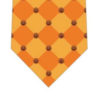 カボチャチェックネクタイ(オレンジ)の写真