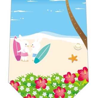 ウサギのサーフィンネクタイの写真