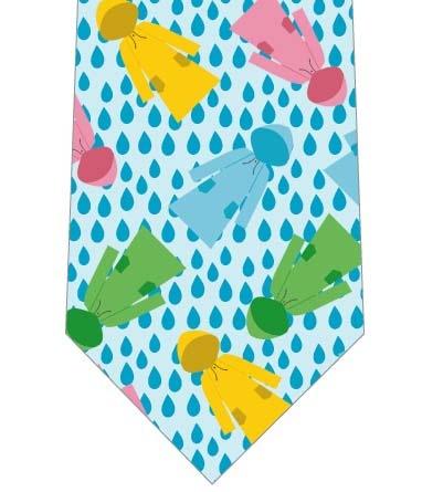 雨とレインコートネクタイの写真