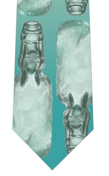 ラムネ瓶ネクタイ(整列)の写真