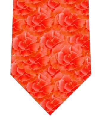 赤いのカーネーションがいっぱいネクタイの写真