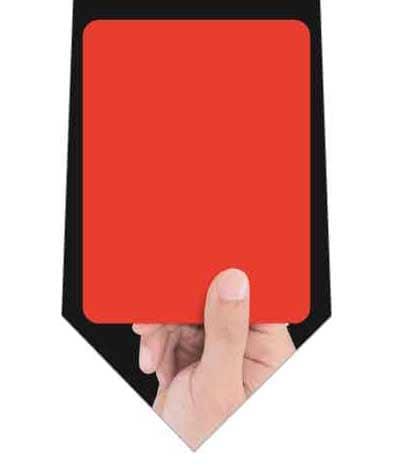 レッドカードネクタイの写真