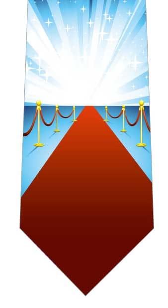 レッドカーペットネクタイの写真