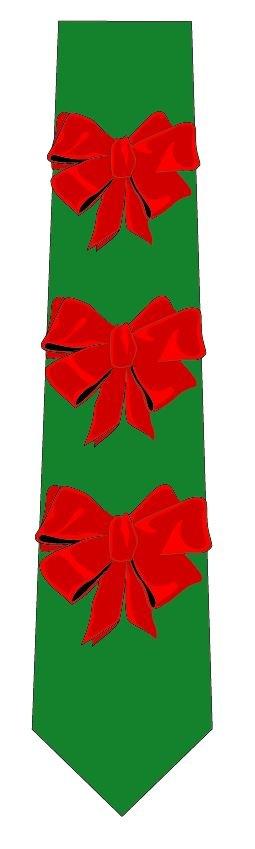 リボンネクタイ(赤×緑)の写真