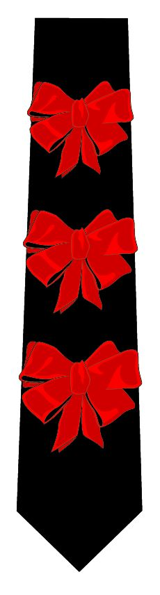 リボンネクタイ(赤×黒)の写真