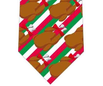 ローストチキン並んだネクタイの写真