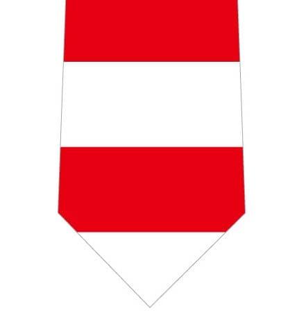 赤白ボーダーネクタイの写真