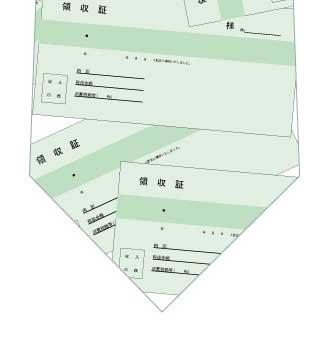 領収書ネクタイの写真