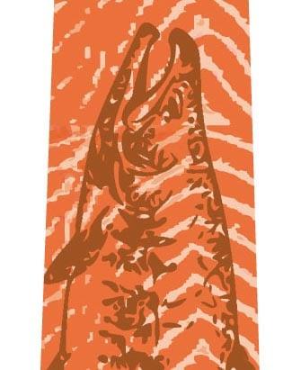 鮭ネクタイ(ブラウン)の写真