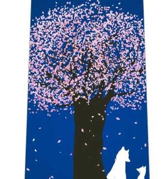 桜舞う夜ネクタイの写真