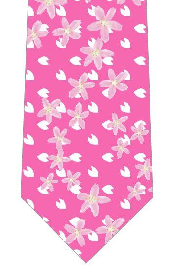 桜の花いっぱいネクタイ(ピンク)の写真