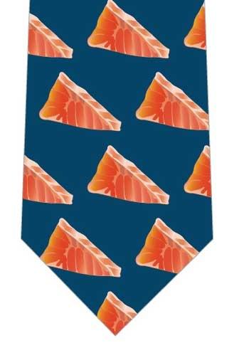 サーモン切身のネクタイの写真