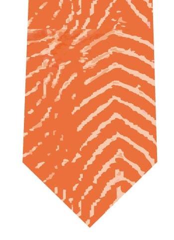 サーモン模様ネクタイの写真