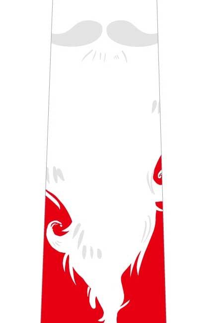 サンタの髭ネクタイの写真