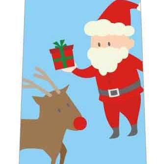 サンタとトナカイとプレゼントネクタイの写真