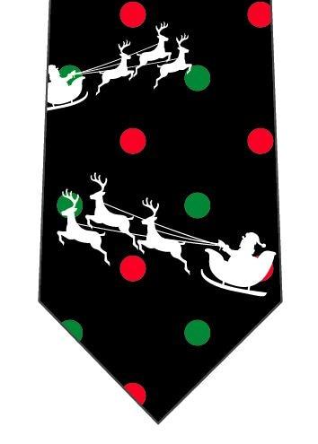 サンタとトナカイ(水玉)ネクタイの写真