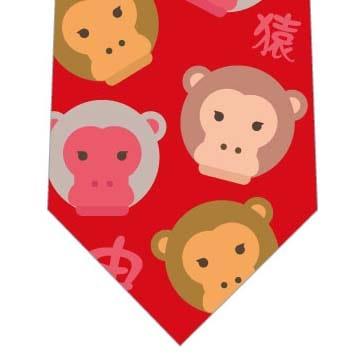 さる猿申年ネクタイ(赤)の写真