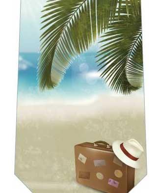 海とバッグネクタイの写真