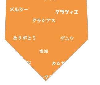 世界のありがとうネクタイ(オレンジ)の写真