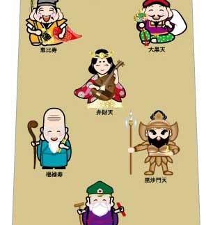 七福神勢揃いネクタイの写真