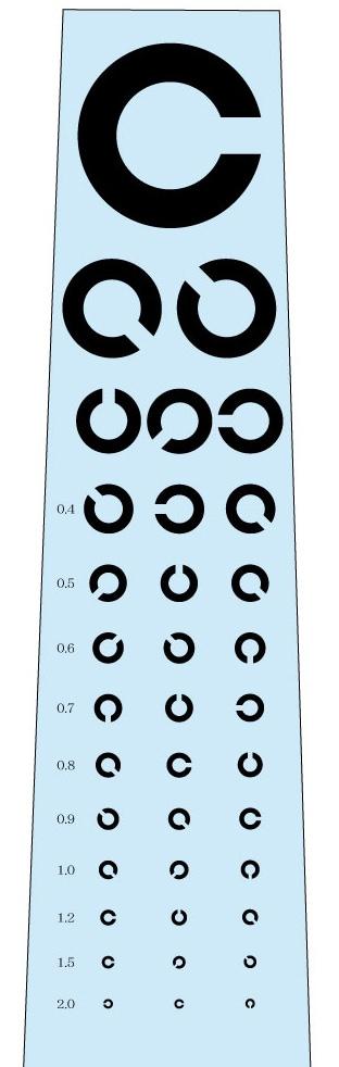 視力検査ネクタイ(水色)の写真