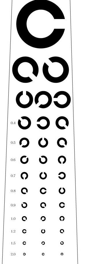視力検査ネクタイ(白)の写真