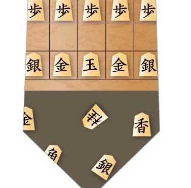 将棋ネクタイの写真