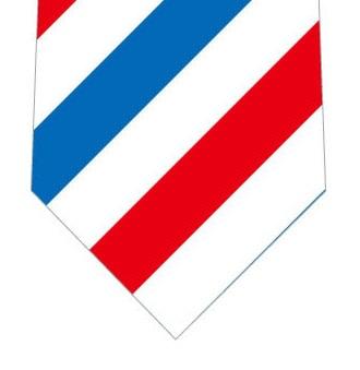サインポール柄ネクタイの写真