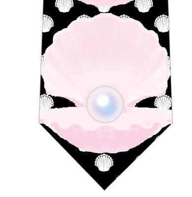 真珠ネクタイ(黒)の写真