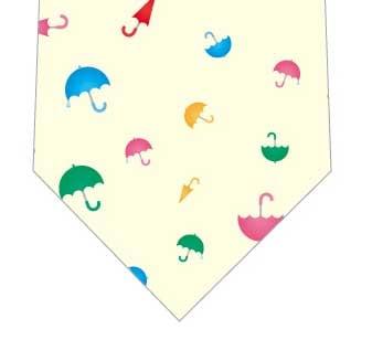小さな傘ネクタイ(黄色)の写真