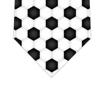 サッカーボール柄ネクタイの写真