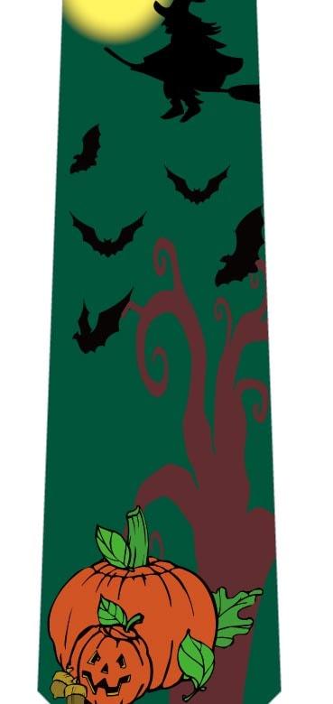 空飛ぶ魔女とコウモリネクタイ(緑)の写真