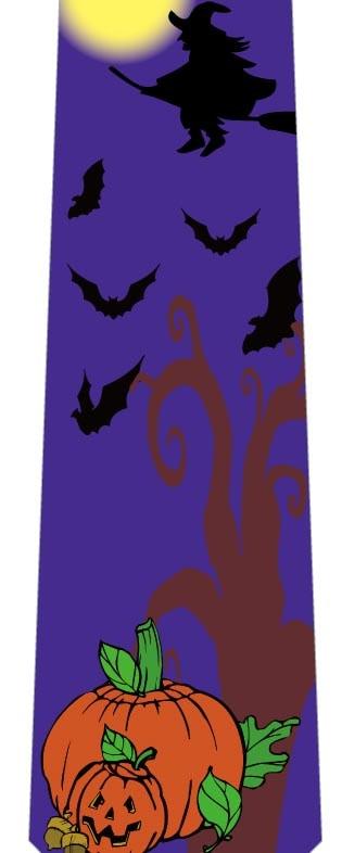 空飛ぶ魔女とコウモリネクタイ(紫)の写真