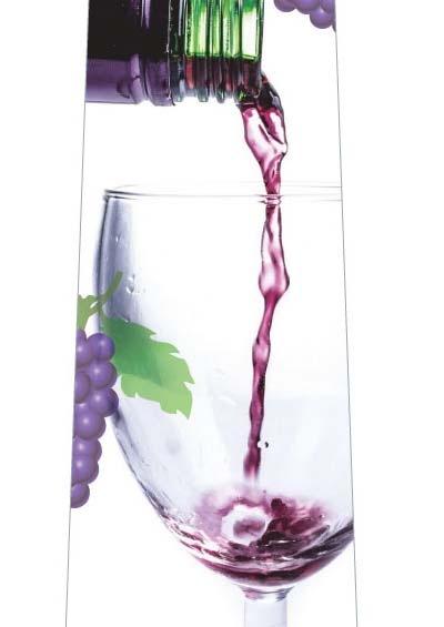 注がれたワインネクタイの写真