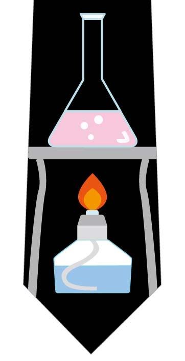 アルコールランプネクタイ(三角フラスコ)の写真