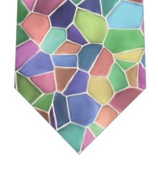 ステンドグラスネクタイの写真