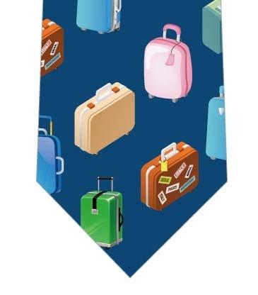 スーツケースネクタイ(ネイビー)の写真