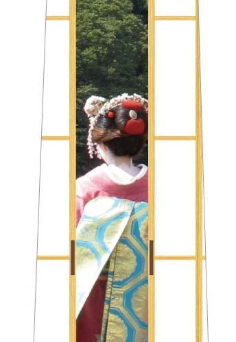 隙間アートネクタイ(舞妓)の写真