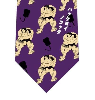 相撲ネクタイ(紫)の写真