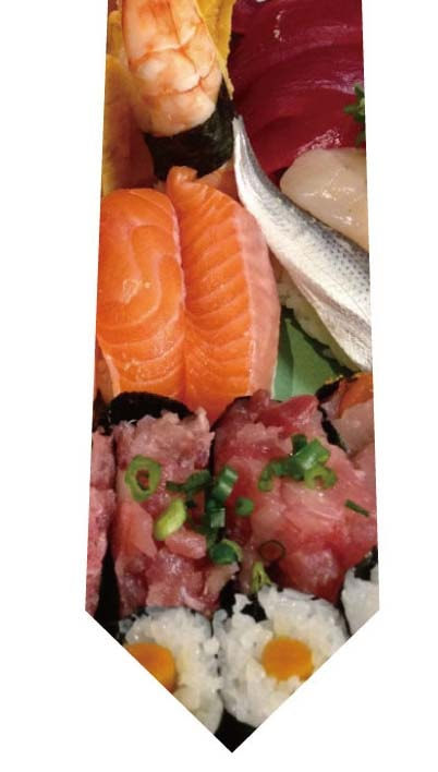 寿司盛り合わせネクタイの写真